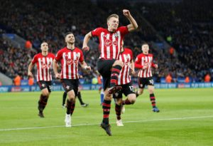 Ten-man Southampton climbed out of the relegation as they dug in to stifle Leicester at the King Power Stadium.