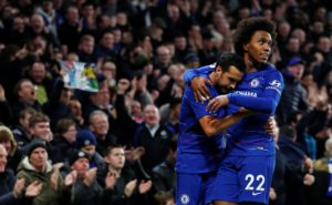 Willian fired a stunning winner for Chelsea at Stamford Bridge as they edged out plucky Newcastle 2-1 on Saturday evening.
