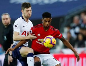 Ben Davies says Tottenham can feel heartened by their performance despite losing 1-0 at home to Manchester United on Sunday.