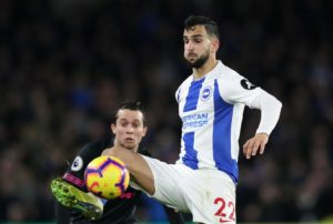 Martin Montoya says he is still adapting to life at Brighton after joining the club from Valencia during the summer.