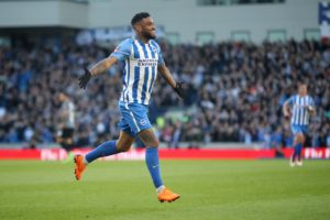 Brighton are waiting on the results of a scan on Jurgen Locadia who damaged his ankle in the FA Cup win over Derby on Saturday.
