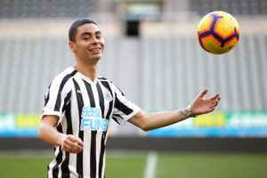 Newcastle boss Rafael Benitez says Miguel Almiron is ready to make his first start in Saturday's Premier League clash with Huddersfield.