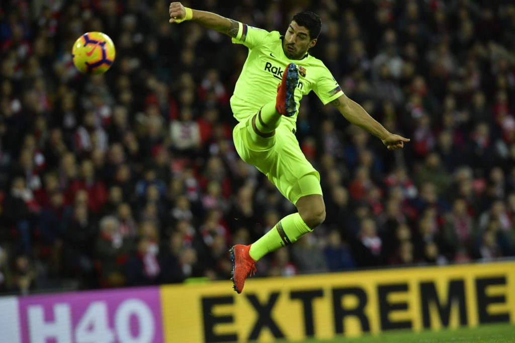 Barcelona striker Luis Suarez saluted 'one of the best in the world' after watching goalkeeper Marc-Andre Ter Stegen deny Athletic Bilbao victory.