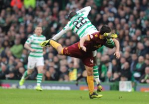Motherwell midfielder Carl McHugh suffered no damage after being knocked unconscious during Sunday's defeat by Celtic, initial tests showed.