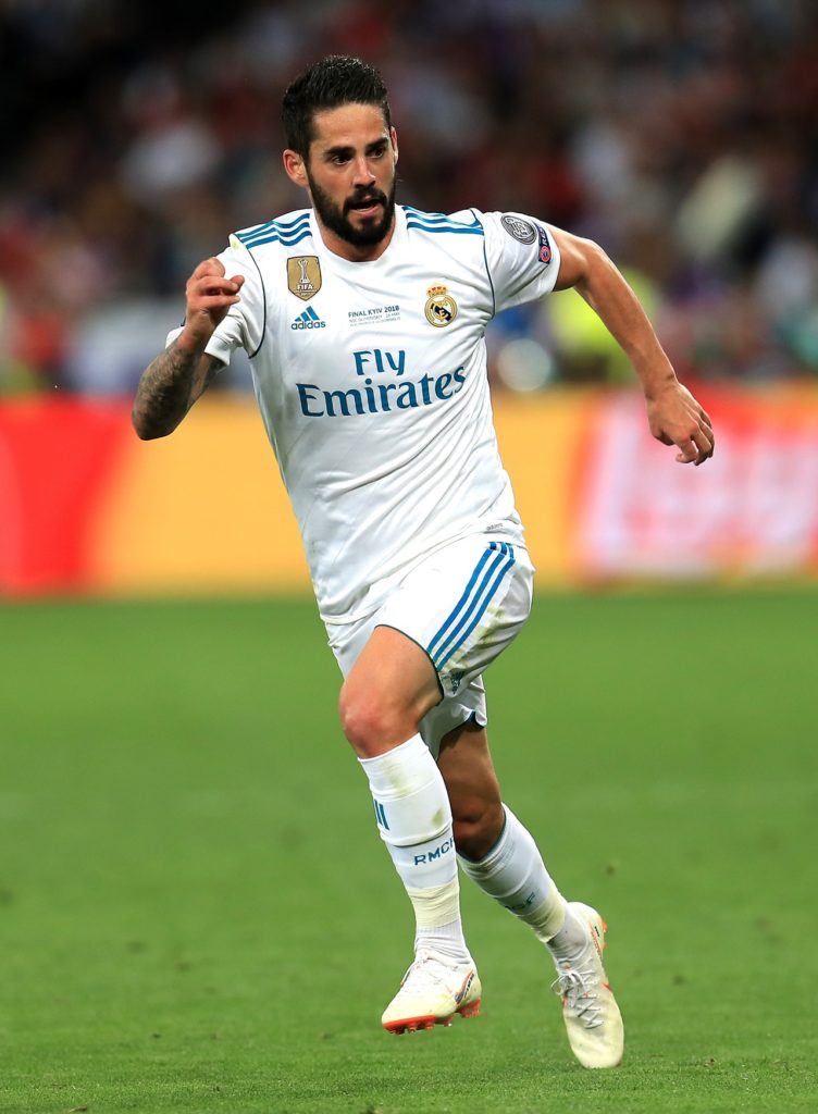 Real Madrid have announced that midfielder Isco missed El Derbi due to neck and back pain.