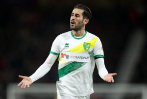 Mario Vrancic hit a brace as Norwich replaced Leeds at the top of the Championship table following a convincing 3-1 win at Elland Road.
