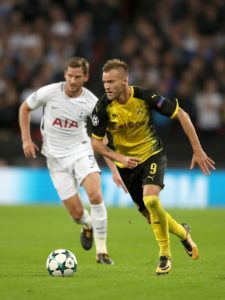 Tottenham face familiar European rivals Borussia Dortmund at Wembley in Wednesday's Champions League last-16, first-leg tie.