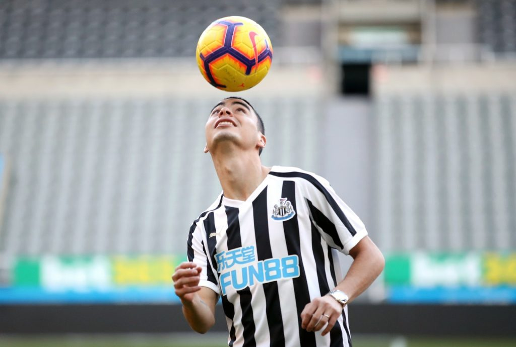 Newcastle boss Rafael Benitez must decide whether Miguel Almiron is ready to make his debut against Wolves on Monday.
