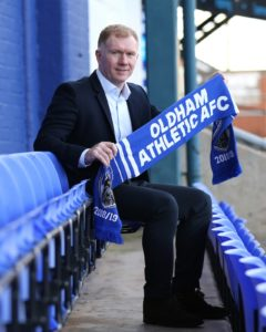 Paul Scholes expects his first attempt at management with Oldham to be scrutinised by Jose Mourinho - although probably not in person.