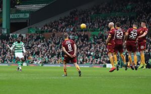 Celtic are eight points clear at the top of the Ladbrokes Premiership following a spiteful 4-1 win over Motherwell at Parkhead.
