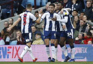 First-half goals from Hal Robson-Kanu and Jay Rodriguez earned West Brom an impressive 2-0 away win over Birmingham rivals Aston Villa.