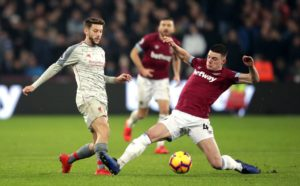 West Ham boss Manuel Pellegrini believes Declan Rice is already England's best holding midfielder.