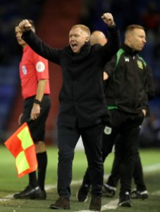 New Oldham manager Paul Scholes was relieved to get his career in the dugout up and running with a win.