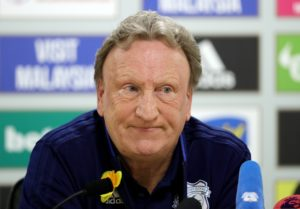 Cardiff boss Neil Warnock feels his side were denied a stonewall penalty in their home hammering by Watford on Friday night.