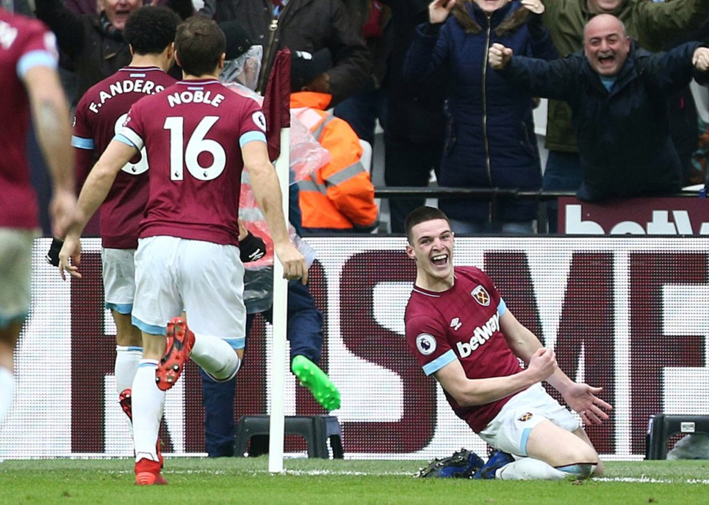Tottenham could be ready to test West Ham's resolve by launching a £35million bid for midfielder Declan Rice in the summer.