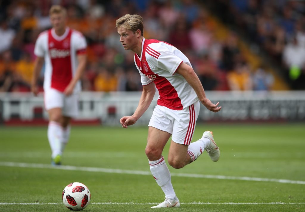Frenkie de Jong admits he cannot contain his excitement at joining Barcelona and says he hopes to win many trophies.
