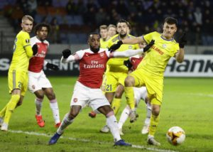 Arsenal have left themselves with plenty of work to do to reach the Europa League last-16 after last week's 1-0 first-leg loss to BATE.