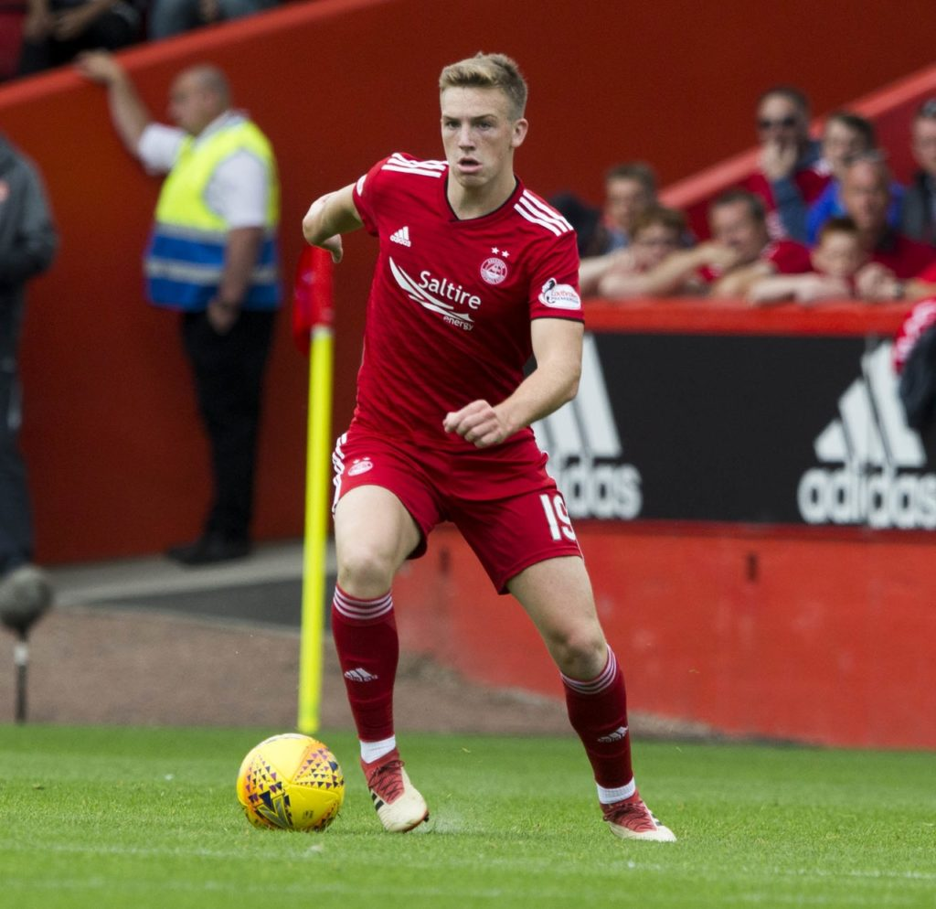 Aberdeen midfielder Lewis Ferguson claims his side never saw themselves as being in a title race.