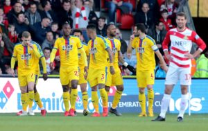 Roy Hodgson hailed the professionalism of his Crystal Palace side as they overcame Doncaster to book an FA Cup quarter-final spot.