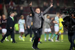 Neil Lennon was 'ecstatic' after he began his second stint as Celtic boss with a dramatic last-gasp 2-1 Ladbrokes Premiership win over Hearts at Tynecastle.