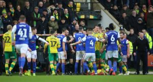 Ipswich and Norwich have both been fined by the Football Association following their recent derby clash, with Town boss Paul Lambert receiving a touchline ban.