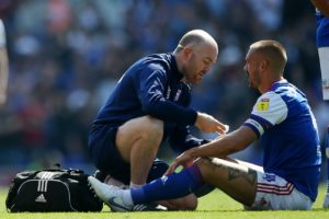 Bottom club Ipswich will check on captain Luke Chambers ahead of the Sky Bet Championship clash against Stoke.