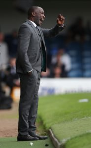 Southend manager Chris Powell praised his players' response to last week's defeat against Bristol Rovers by battling to a point with 10-men at Charlton.