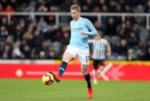 Pep Guardiola has warned that Kevin De Bruyne is not a certain starter when champions Manchester City host Chelsea on Sunday.