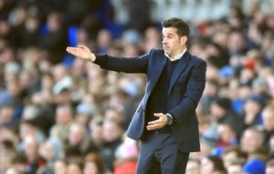 Everton boss Marco Silva wants his players to have the confidence to get into the box and create opportunities to score.