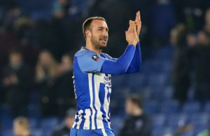 Brighton manager Chris Hughton says he has no problem with playing Glenn Murray in the FA Cup meeting with Derby County.