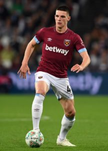 Declan Rice is already England's best holding midfielder, according to his West Ham manager Manuel Pellegrini.