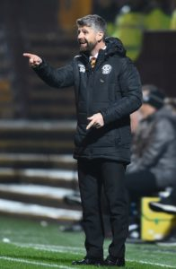Motherwell manager Stephen Robinson sounded a note of caution after a fifth consecutive Ladbrokes Premiership win took them up to seventh.