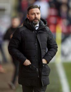 Aberdeen manager Derek McInnes cut a frustrated figure despite watching his side rescue a point against Ladbrokes Scottish Premiership basement boys St Mirren.