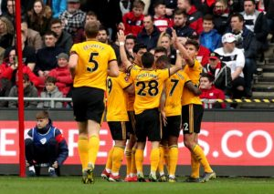 Wolves booked a first FA Cup quarter-final appearance for 16 years after they ended Bristol City's long unbeaten record with a 1-0 win at Ashton Gate.