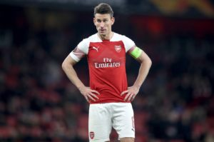 Arsenal boss Unai Emery is hoping that captain Laurent Koscielny will be fit for Sunday's Premier League clash with Southampton.