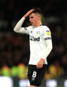 Mason Mount will sit out Derby's home clash with Millwall on Wednesday.