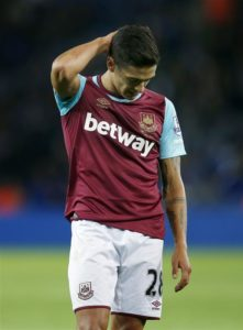 West Ham boss Manuel Pellegrini is looking forward to having Manuel Lanzini back in his side for the first time this season.