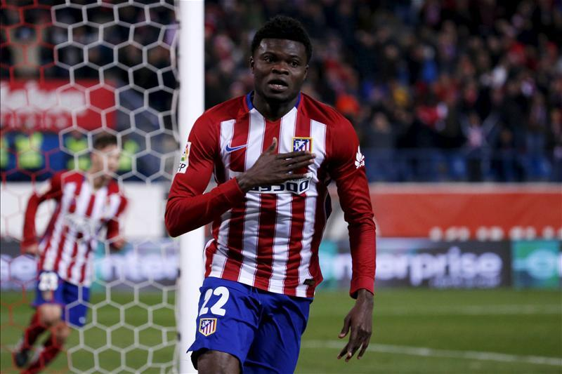 Thomas Partey says there were no offers for his services in January and insists he is happy at Atletico Madrid.