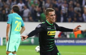 Sporting director Max Eberl is hopeful that Borussia Monchengladbach can tie down in-demand forward Thorgan Hazard to a new contract.