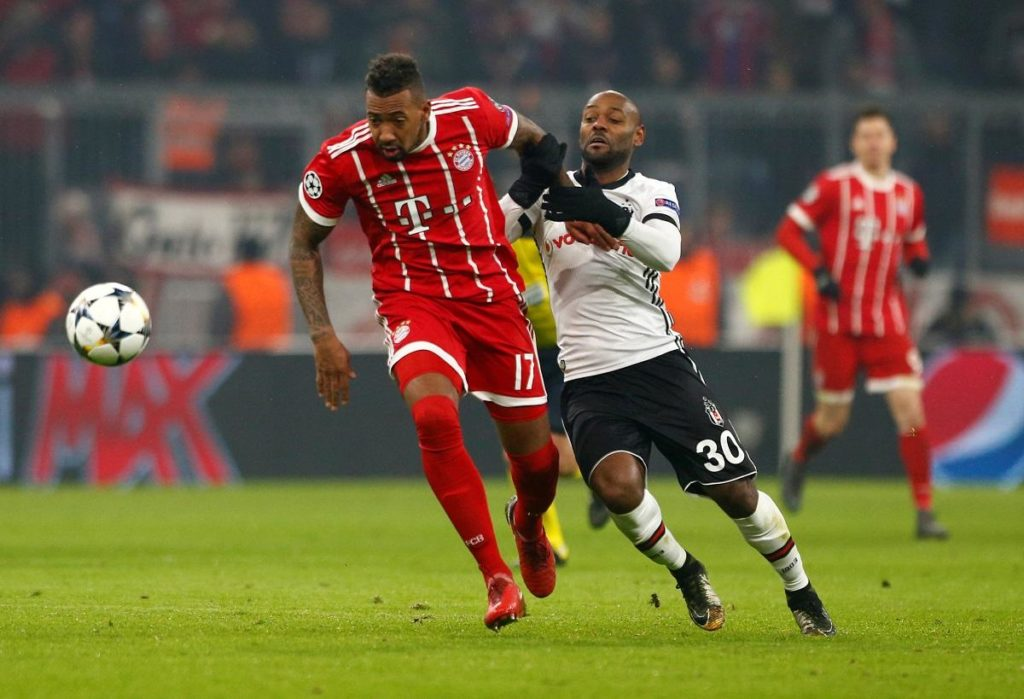 Bayern Munich will be missing Jerome Boateng against Liverpool tonight after the defender was struck down by gastroenteritis.