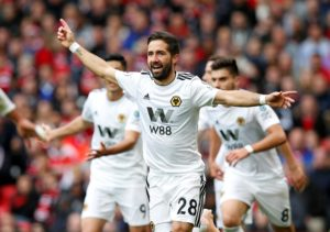 Wolves' Joao Moutinho praised the spirit of his side after they battled to a 1-1 draw at home to Newcastle.