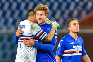 Tottenham are understood to be lining up a summer swoop for Sampdoria's Joachim Andersen and could watch him again this weekend.