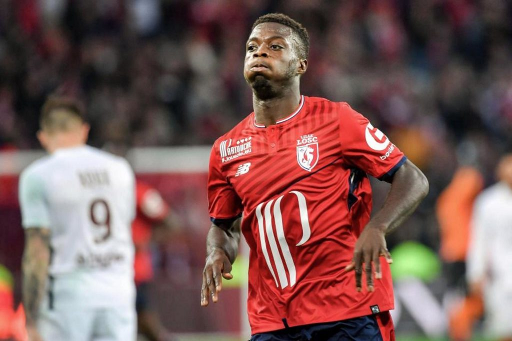 Boss Christoph Galtier claims only Kylian Mbappe and Neymar are ahead of Lille star Nicolas Pepe in terms of the best Ligue 1 strikers.