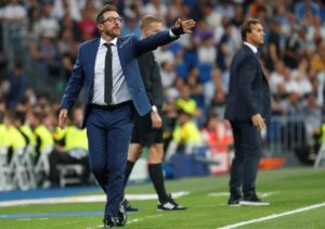 Roma coach Eusebio Di Francesco was satisfied by his team's response to their midweek loss against Fiorentina with a draw against AC Milan.