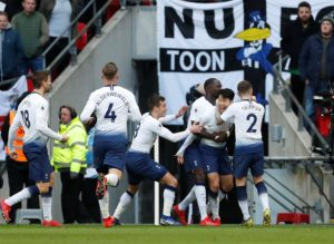 Son Heung-min scored the only goal as Tottenham beat Newcastle 1-0 at Wembley to move up to second in the Premier League.