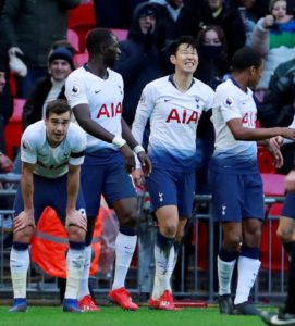 Tottenham remain firmly in the Premier League title race after a 3-1 win against Leicester City at Wembley.