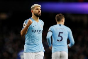 Sergio Aguero's hat-trick helped fire Manchester City back to the top of the Premier League as they thrashed Chelsea 6-0 at the Etihad.