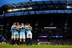 Pep Guardiola hailed his Manchester City players after they returned to the top of the table with a stunning 6-0 win over Chelsea.