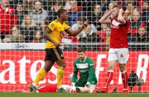 Ivan Cavaleiro scored the only goal of the game as Wolves earned a hard-fought 1-0 FA Cup fifth-round victory at Bristol City.