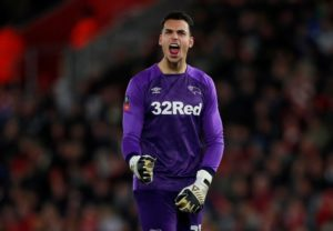Derby have entered into talks with goalkeeper Kelle Roos as they look to tie him down to a new contract, Frank Lampard has confirmed.